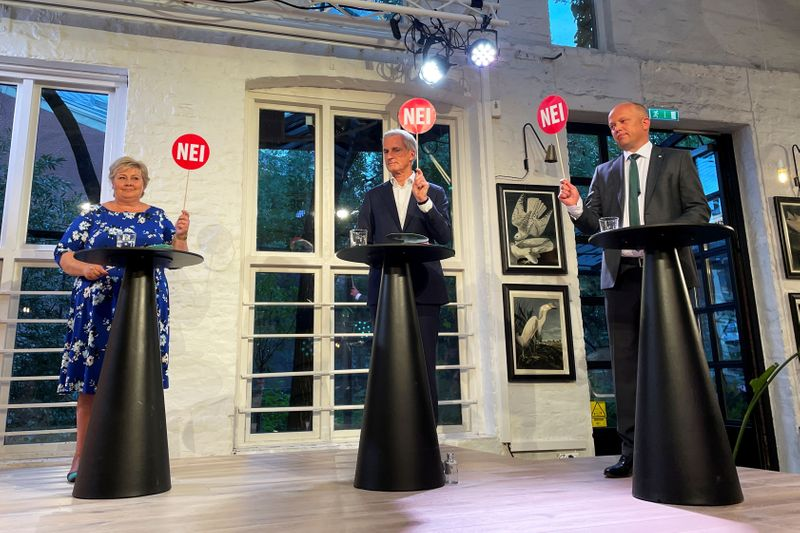 Norway's left-wing opposition wins in a landslide, coalition talks next